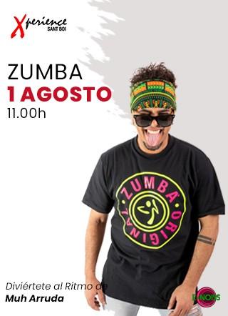 1 de Agosto: #DomingodeZumba con Muh Arruda en Xperience