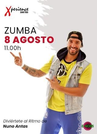 8 de Agosto: #DomingodeZumba con Nuno Antas en Xperience