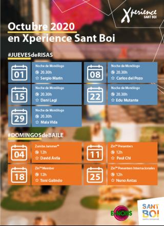Calendario actividades Octubre 2020